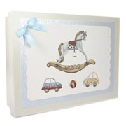Wooden Baby Keepsake Box (Traditional Rocking Horse)