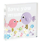 'Love You Mum' Glass Token by Spaceform