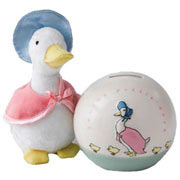 Jemima Puddle-Duck Money Bank and Soft Toy Gift Set
