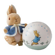 Peter Rabbit Money Box and Soft Toy Gift Set
