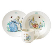 Peter Rabbit Three Piece China Nursery Set
