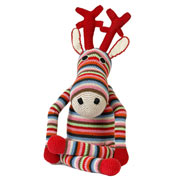 Large Stripey Crochet Reindeer by Anne-Claire Petit