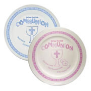 Personalised First Holy Communion Plate Pink or Blue