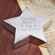 'Happy Fathers Day' Star Paperweight