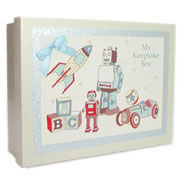 Traditional Baby Boys Keepsake Box
