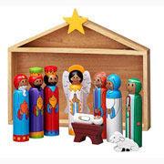 Lanka Kade Fair Trade Wooden Nativity Scene
