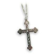 Traditional Solid Silver Cross Necklace