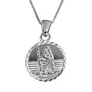 Solid Silver St. Christopher Necklace