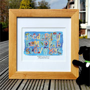 Framed Personalised Alphabet Watercolour Print