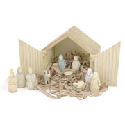 East of India Wooden Nativity Set