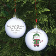 Cheeky Elf Personalised Christmas Tree Bauble
