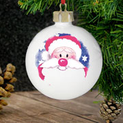 Jolly Santa Personalised Christmas Bauble