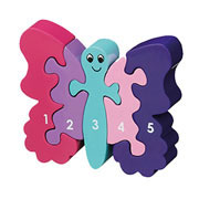 Fair Trade Number Butterfly Jigsaw