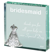 A Token Of..... Bridesmaid Glass Paperweight