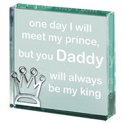 A Token Of..... Daddy King Glass Paperweight