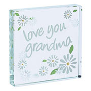 'love you grandma' Glass Token by Spaceform