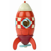 Wooden Magnetic Rocket Activity Toy by Janod