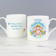 Personalised Easter Bunny China Mug