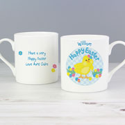 Personalised Easter Chick China Mug
