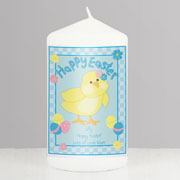 Personalised Happy Easter Chick Candle