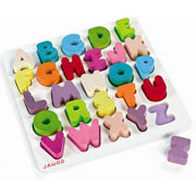Wooden Alphabet Puzzle by Janod