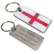 England Flag Personalised Keyring