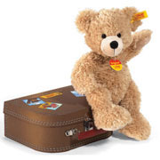 Steiff Fynn Beige Teddy Bear in a Suitcase