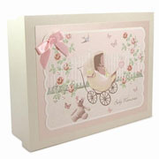 Wooden Baby Girl Memories Box - Rose Cottage
