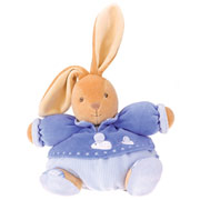Kaloo Blue Medium Chubby Rabbit with Mouse