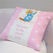Beatrix Potter Welcome to the World Cushion