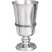 Pewter Irish Goblet with Celtic Band Baby Christening Gift