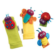 Gardenbug Wrist Rattle and Footfinder Set by Lamaze