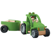 Wooden Tractor and Trailer by Plan Toys
