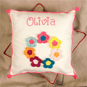 Personalised Crocheted Cushion