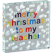 Merry Christmas Teacher Token With Free Spaceform Gift Bag