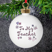 To My Teacher Bauble