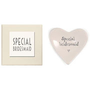 East of India Porcelain Bridesmaid Heart Token