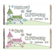 Personalised Church Chocolate Bar - Pink or Blue