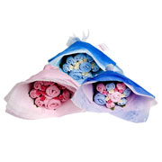 Twins Welcome Baby Clothing Bouquet Pink Blue or Mixed