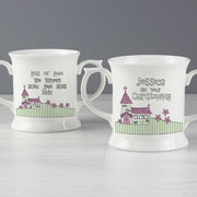 Church Personalised Loving Mug - Pink or Blue