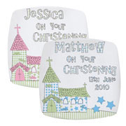 Personalised Whimsical Church China Plate