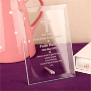 Personalised Engraved Glass Communion Gift Plaque
