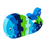 Fair Trade Whale 1-10 Jigsaw