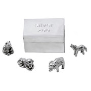 Sterling Silver Zoo in a Silver Box With Presentation Box