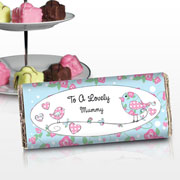 Floral Birds Personalised Chocolate Bar - Free Delivery