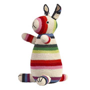 Anne-Claire Petit Striped Crocheted Rabbit