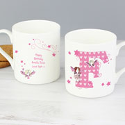 Personalised Fairy Initial Mug