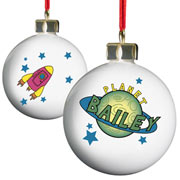 Personalised Space Bauble