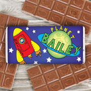 Personalised Space Chocolate Bar - Free Delivery