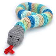 Pebble Fair Trade Crocheted Snake Baby Rattle Toy